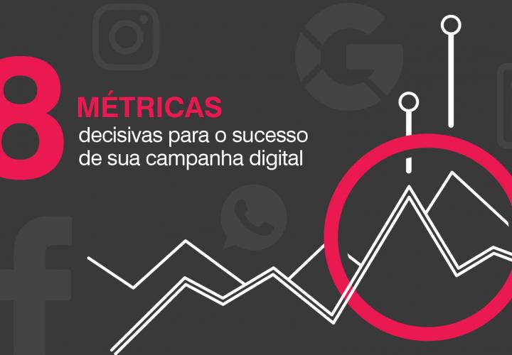 8 métricas decisivas para o sucesso de sua campanha digital